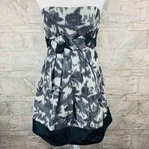 BCBG MAX AZRIA Black & Gray Strapless Dress